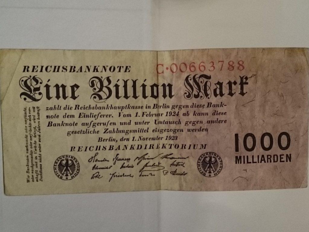 billionReichsmark