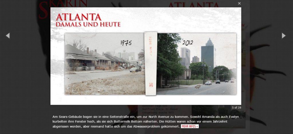 """Diashow von Atlanta """"Damals und heute"""" - Bittere Wunden"""