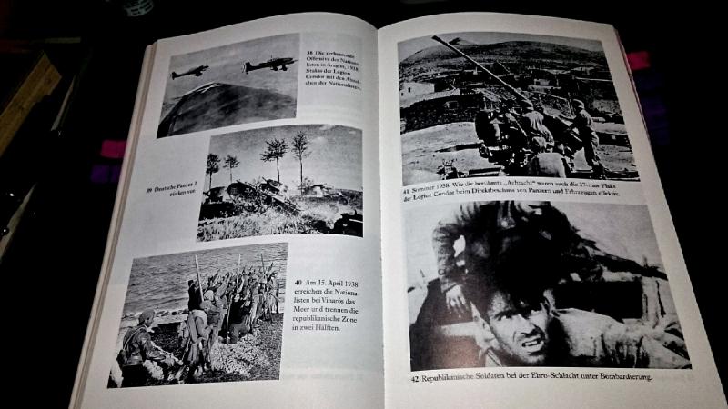 Abbildungen von deutschen Truppen im Spanischen Bürgerkrieg