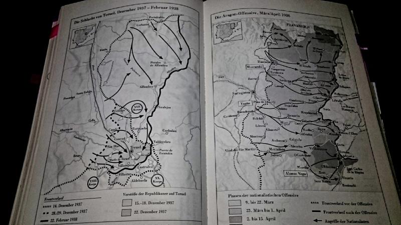 Abbildungen Schlachtpläne Beevor Spanischer Bürgerkrieg
